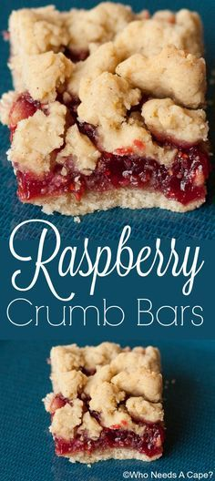 Raspberry Crumb Bars are sweet and tart at the same time. The butter crumbs and the raspberries compliment each other so well.