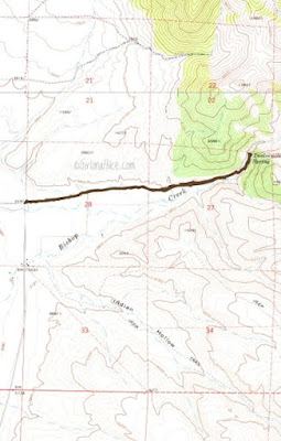 12 Mile (Bishop Creek) Hot Springs Trail map