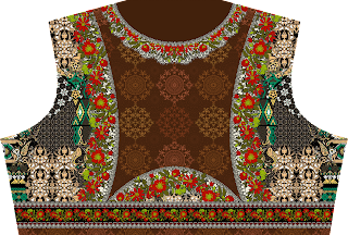 Ladies choli Design - Back 2474