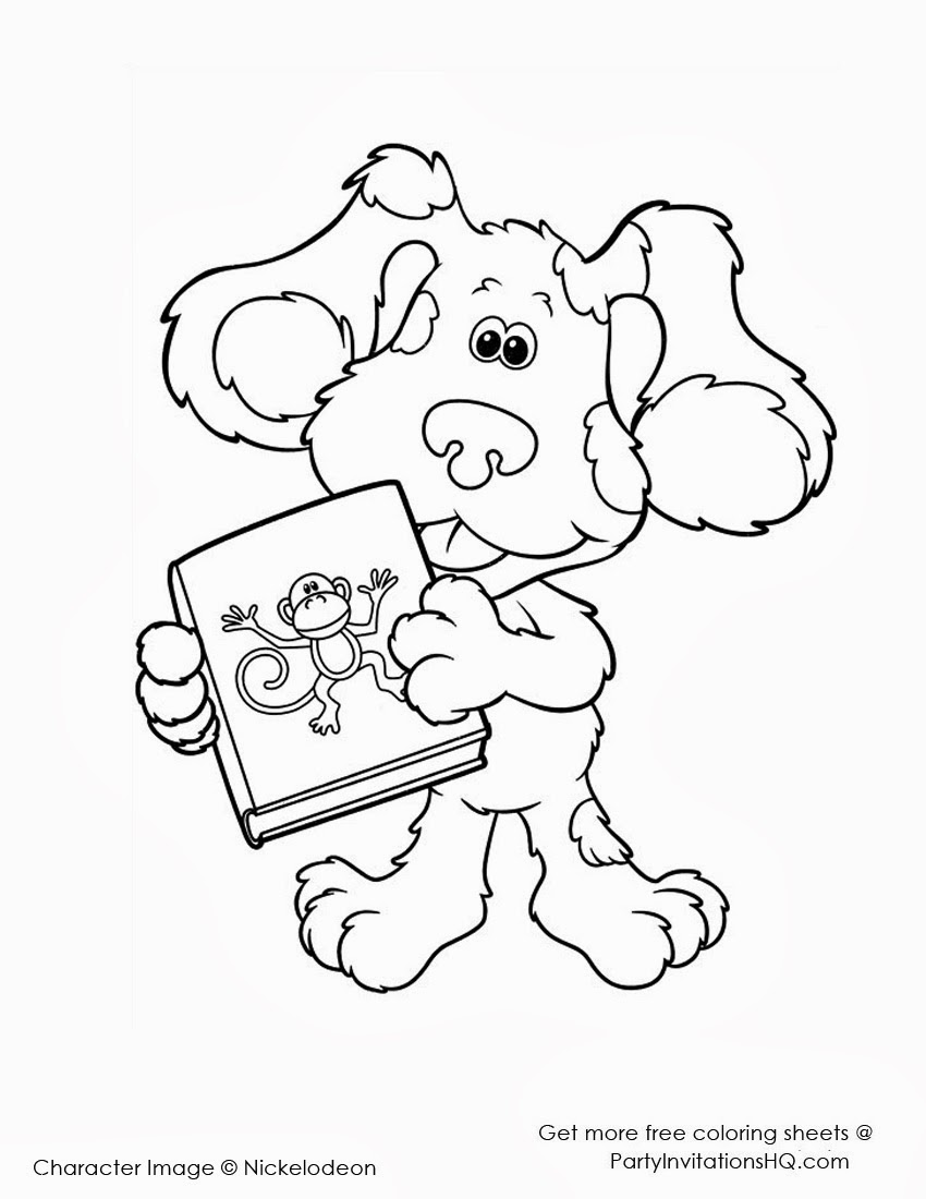 blues clues coloring pages printable - Free Coloring Pages ...