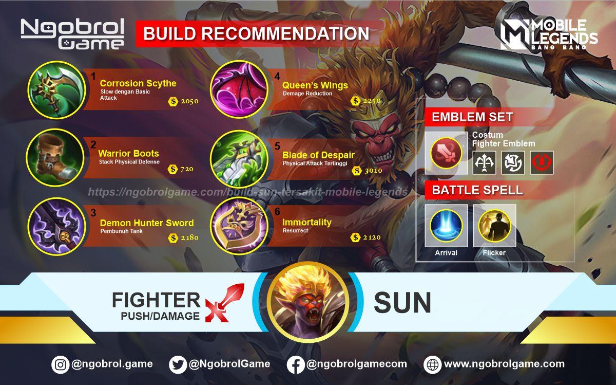 Build Sun Savage Mobile Legends