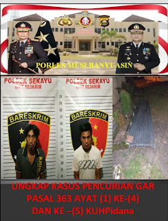 Dua Pelaku Curat di Mes PT MBP Diciduk Polisi