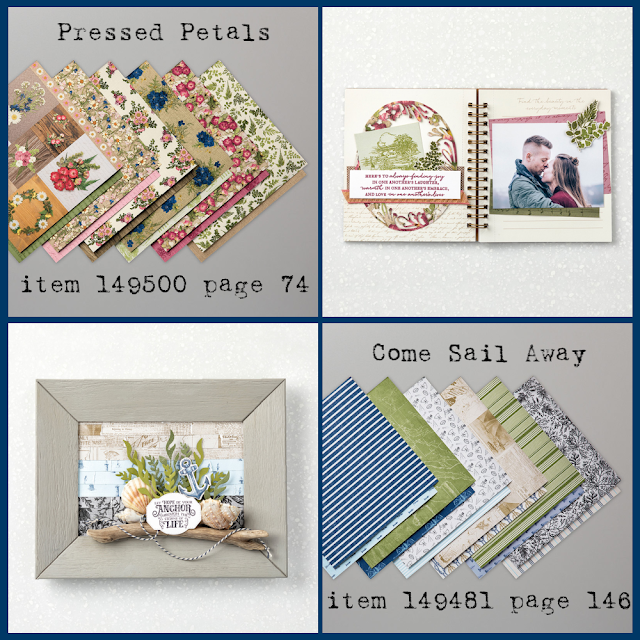 Pressed Petals and Come Sail Away Designer Series Paper and project samples - shop with Nicole Steele, The Joyful Stamper!