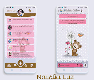 Teddy Bear Cute Theme For YOWhatsApp & Fouad WhatsApp By Natalia Luz