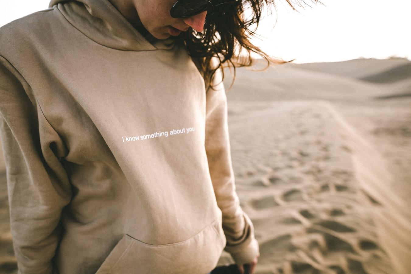 girl in gray sweatshirt
