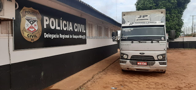 Caminhão é recuperado pela Polícia Civil e vítima ainda estava amarrada