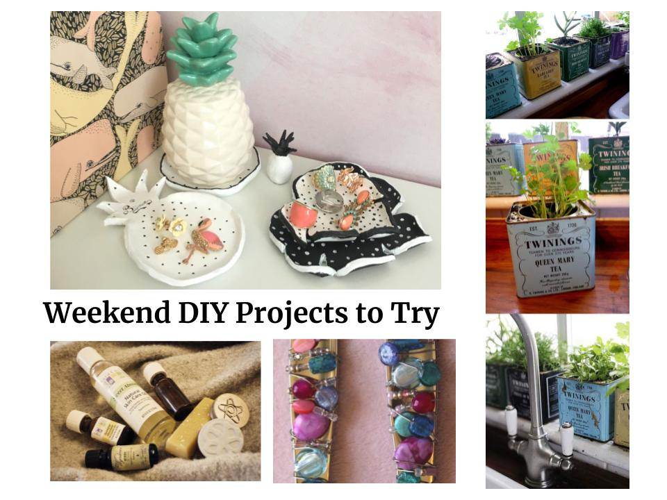 quick weekend projects air clay decor, indoor herb gardens, solid perfume, gem wrapped flatware