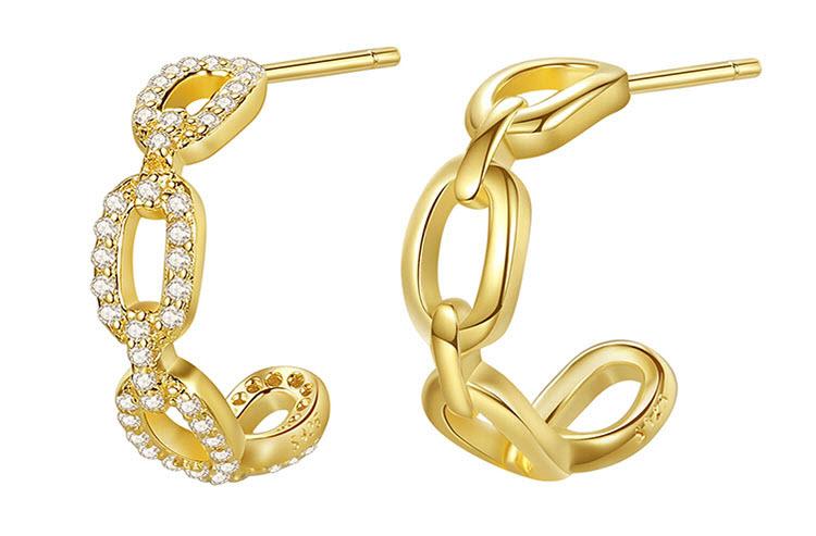 維也納 925純銀鋯石耳環