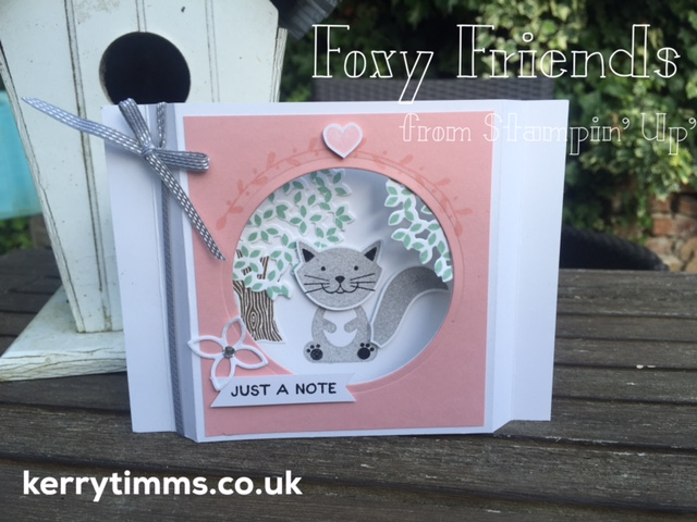 kerry timms stampin up card making class gloucester papercraft scrapbooking handmade foxy friends thoughtful branches create creative craft cat invitation gift homemade stamping hobby female