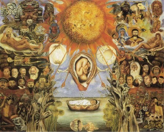 Pintura de Frida Kahlo - Moisés o núcleo solar