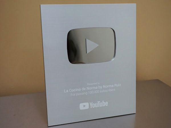 PLACA DE PLATA  ¡¡100 MIL SUSCRIPTORES EN YOUTUBE!!