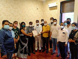अंतर्राष्ट्रीय मानवाधिकार राजदूत संगठन ने किया चिकित्सकों का सम्मान | #NayaSaberaNetwork