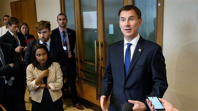 No-deal Brexit 'political suicide' for Conservatives: Britain's Foreign Secretary (Foreign Minister) Jeremy Hunt