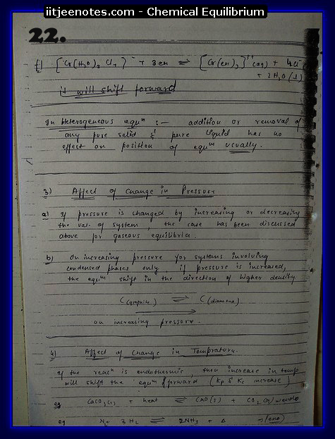 Chemical Equilibrium Notes IITJEE9