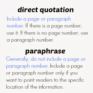Explanation of using page numbers