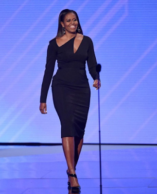 Image result for Michelle Obama wows in black at the 2017 ESPYS
