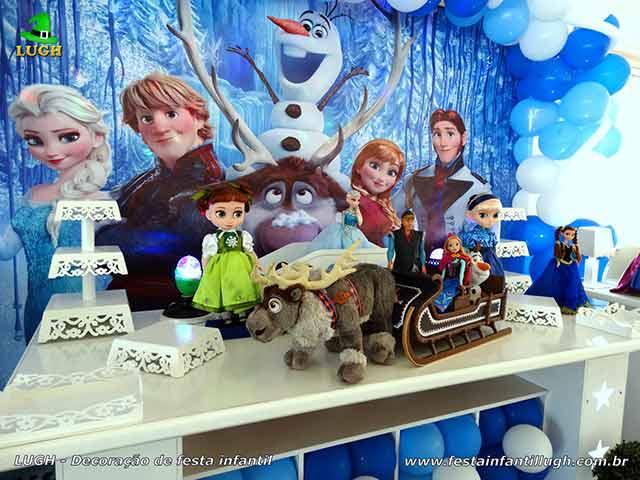 Decoração festa de aniversário Frozen - Mesa temática