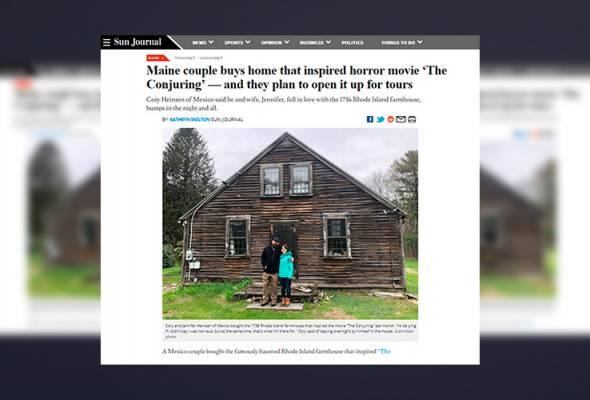 Selepas beli kediaman penggambaran The Conjuring, rupanya memang rumah itu berhantu!