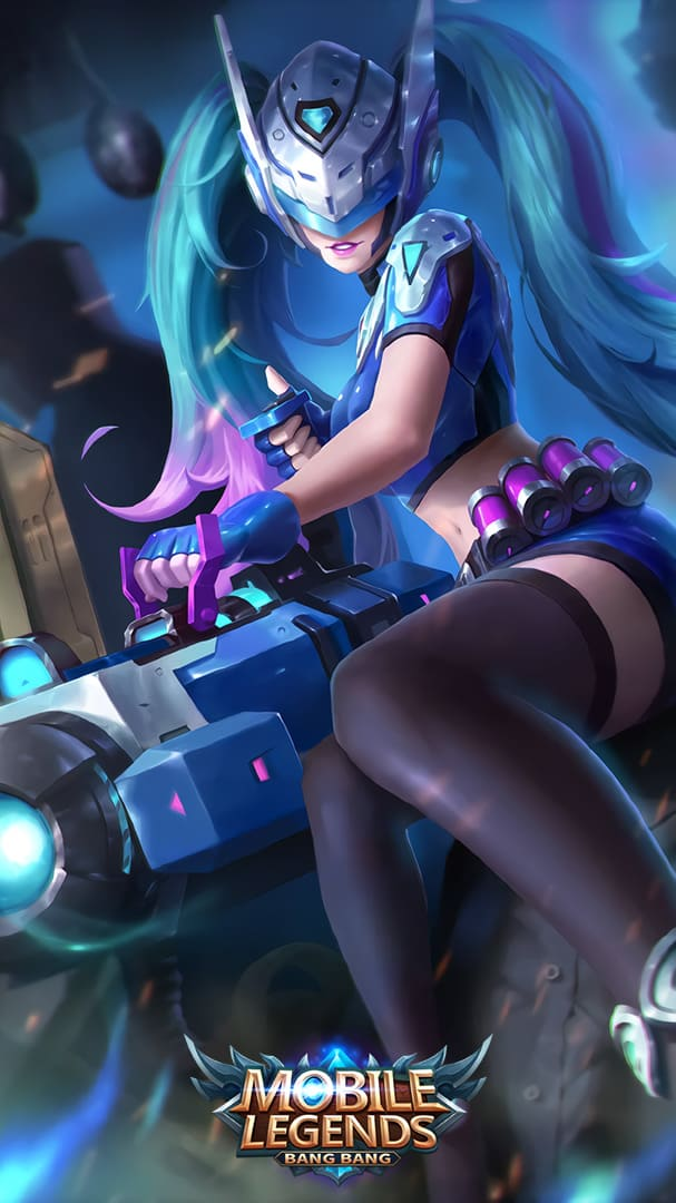 Wallpaper Layla Blue Spectre Skin Mobile Legends HD for Android and iOS