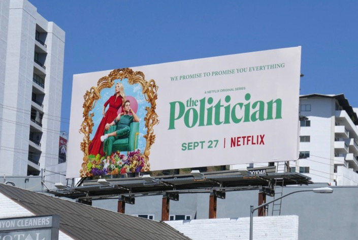 The Politician series premiere billboard