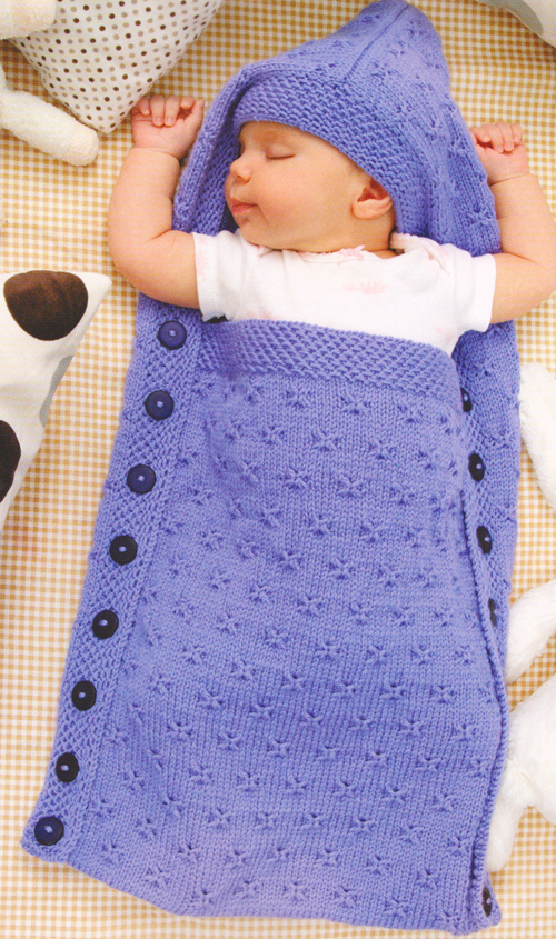 Hooded Sleep Sack - Free Knitting Pattern