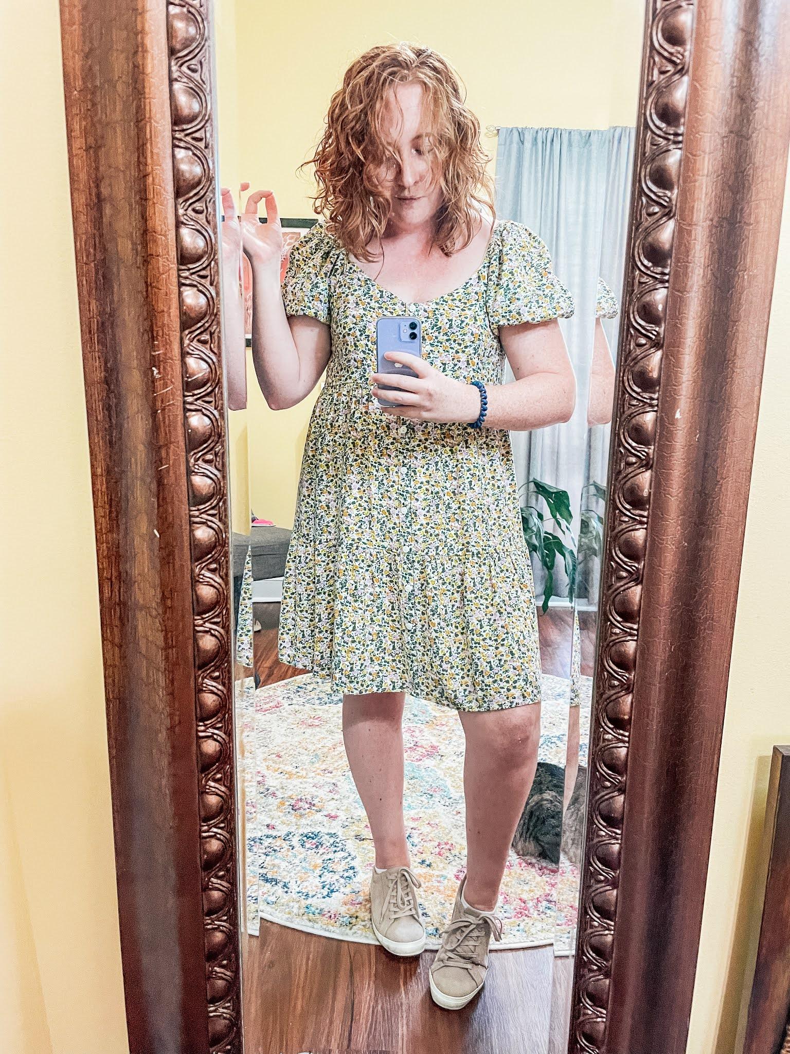 floral-puff-sleeve-dress