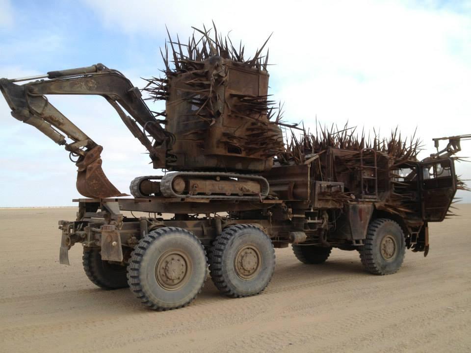 fury road vehicles buzzard excavator. Black Bedroom Furniture Sets. Home Design Ideas