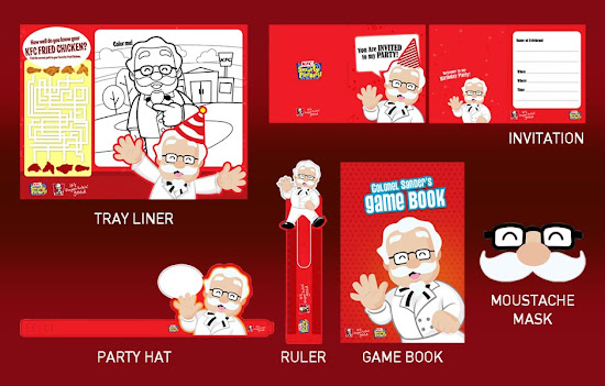 KFC Kiddie Party Freebies