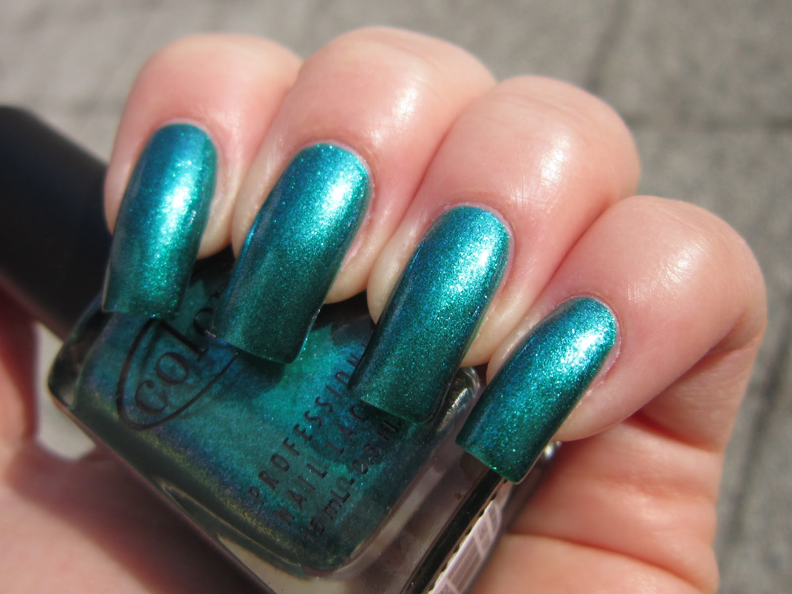Color Club Metamorphosis Teal Green Metallic Blue Shimmer Nail Polish Ebay