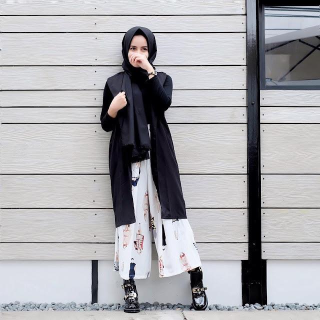 Model Gaya Hijab Celana Kulot cewek kekinian
