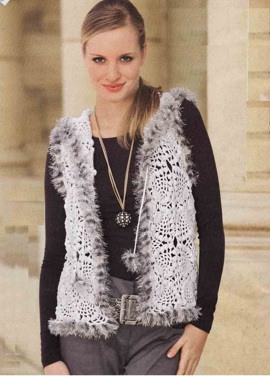 Patron Crochet Chaleco Combinado