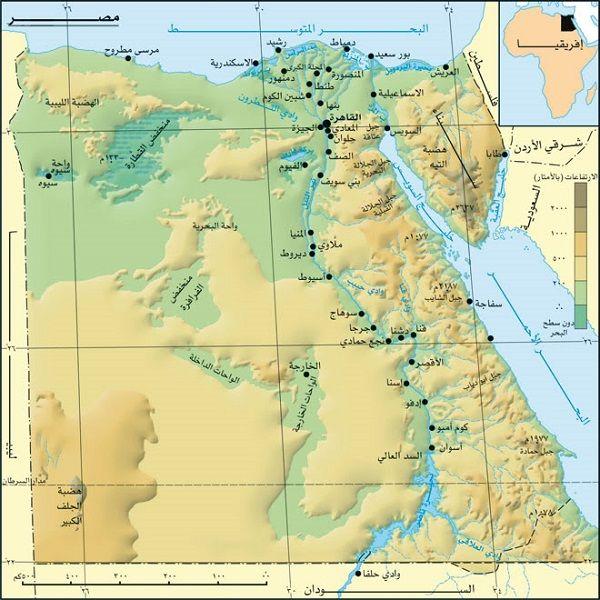 محافظات بالتفصيل خريطة مصر Kharita Blog
