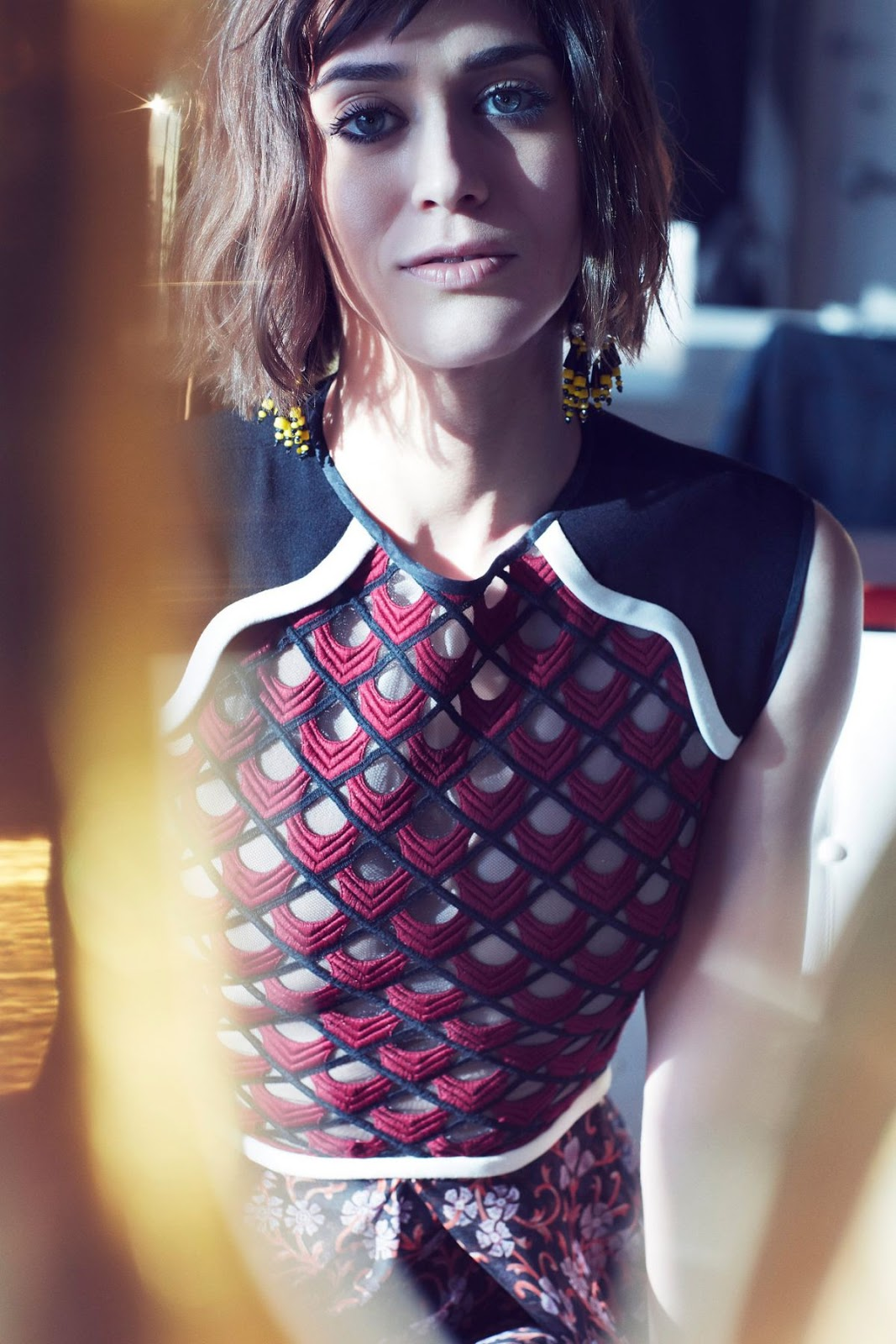 'Now You See Me 2' actress Lizzy Caplan Shoot for Rhapsody Magazine June 2016 Issue