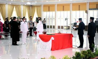 Bupati dan Wakil Bupati Labuhanbatu Dilantik,  Gubernur Edy Rahmayadi Minta Percepat Serap Anggaran