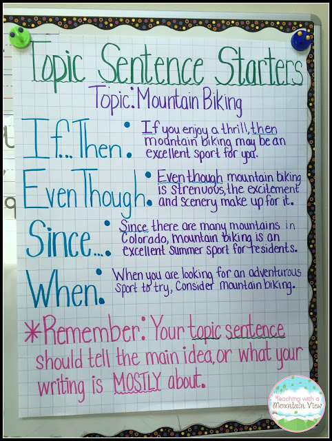 examples of good topic sentences for essays