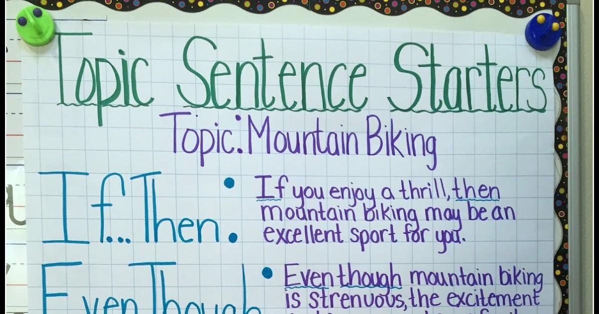 also teaching with  mountain view topic sentences rh teachingwithamountainview