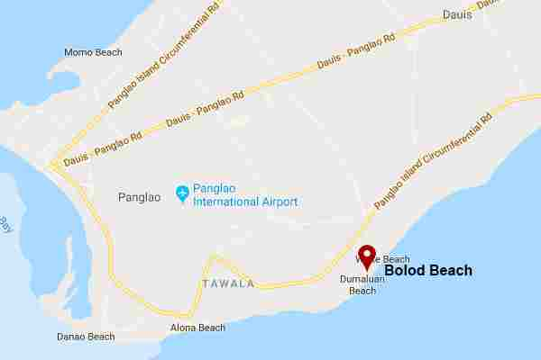 Best, peaceful and Famous tourist spots  white beach in bolod panglao bohol philippines 2018  Map