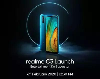 Realme C3 : 4GB रैम, 12 + 5 मेगापिक्सल कैमरा, 5000mAh की बैटरी, कीमत सिर्फ इतने रुपये