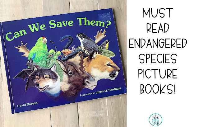 reading activity endangered animals