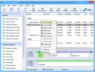 Partition your hard drive with free partition manager