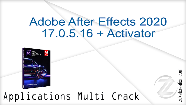 Adobe After Effects 2020 17.0.5.16 Pre-Activated