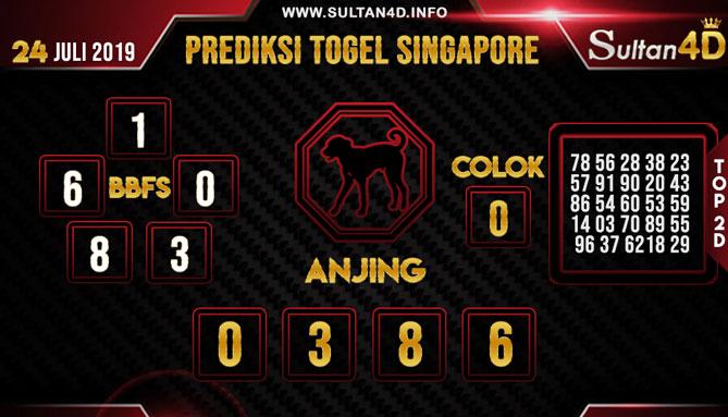 PREDIKSI TOGEL SINGAPORE SULTAN4D 24 JULI 2019