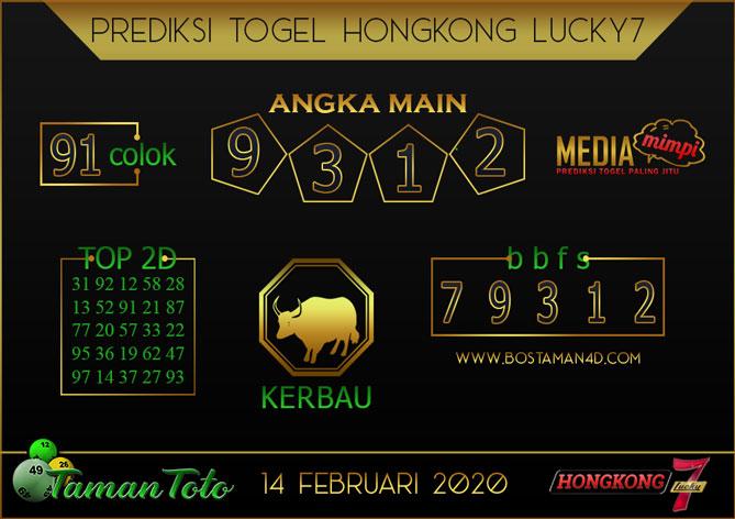 Prediksi Togel HONGKONG LUCKY 7 TAMAN TOTO 14 FEBRUARY 2020