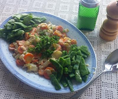 Creamed Carrots & Belgian Endive