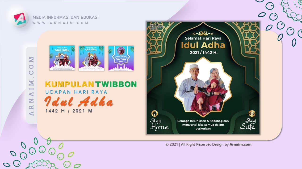 ARNAIM.COM  - DESIGN TWIBBON ELEGANT UCAPAN HARI RAYA IDUL ADHA 1442 H (3)