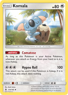 Komala Guardians Rising Pokemon Card