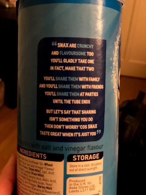Foodstuff Finds Snax Salt Vinegar Asda By At Nli10