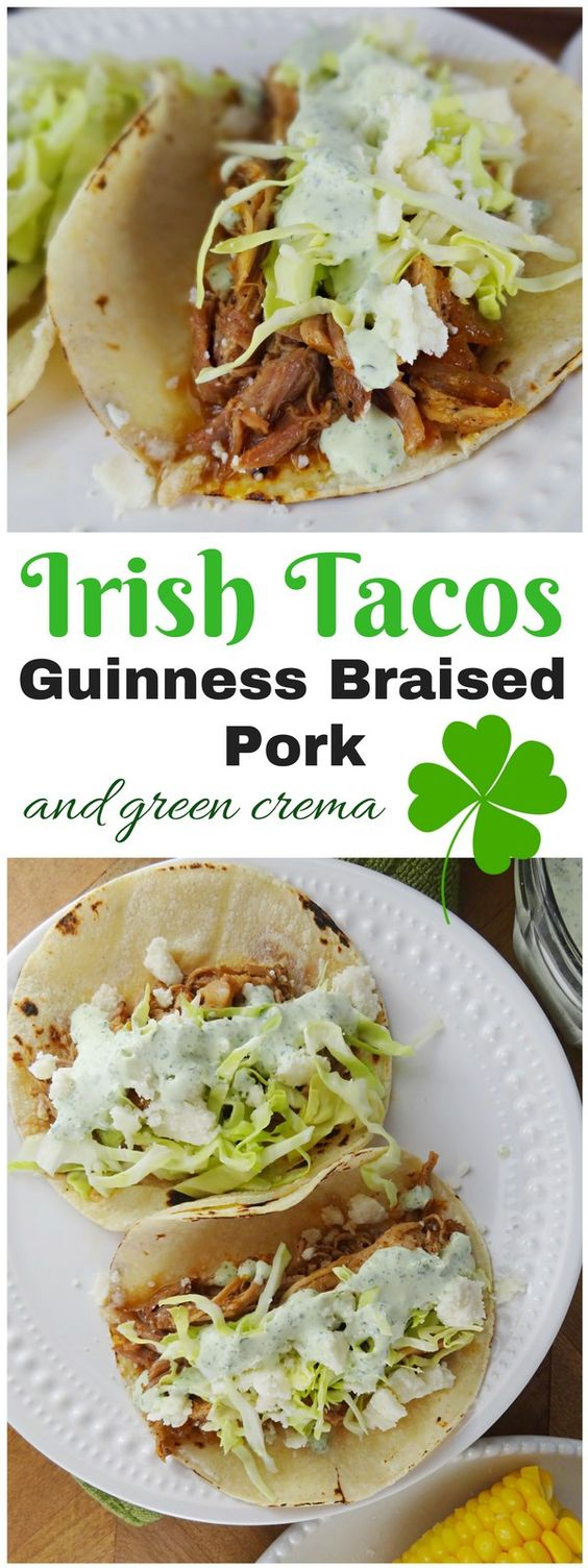 IRISH TACOS – GUINNESS BRAISED PORK
