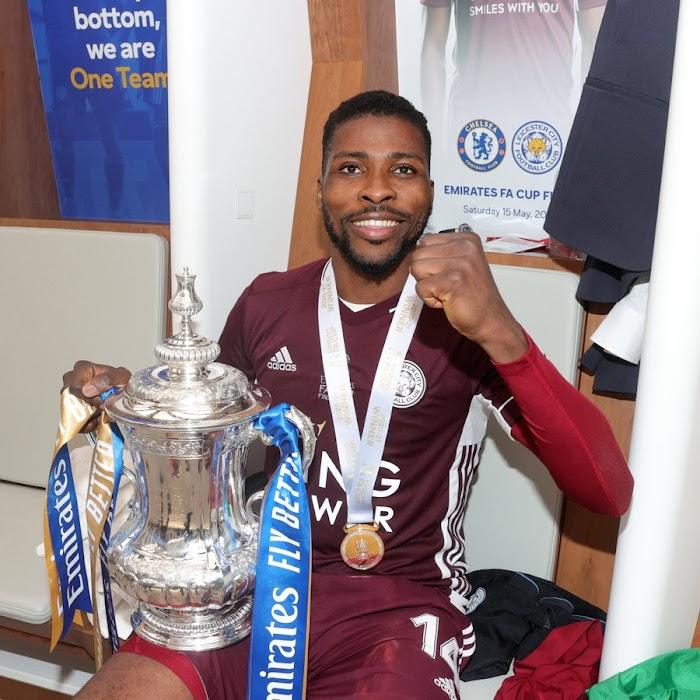 Kelechi Iheanacho Wins Leicester City 2020-21 Goal Of The Season Award (Photos)