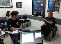 aula teórica na Marina da Glória